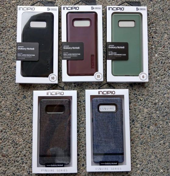 Incipio Galaxy Note 8 case samples