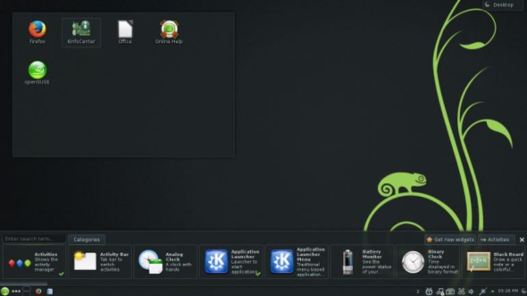 OpenSUSE 13.1 KDE desktop