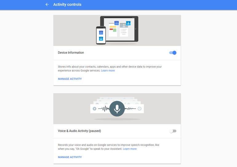 Control Google Assistant data permissions