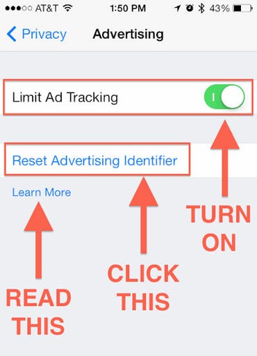 The Advertising Privacy Settings in iOS 7 are extremely important - Jason O'Grady