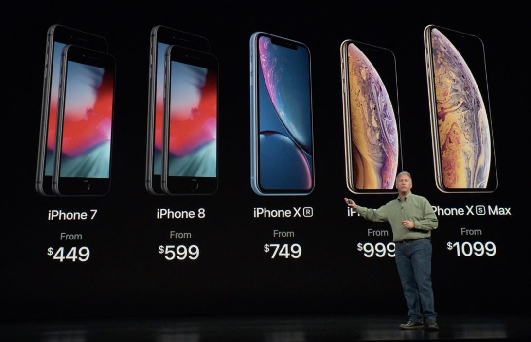 Full iPhone lineup pricing