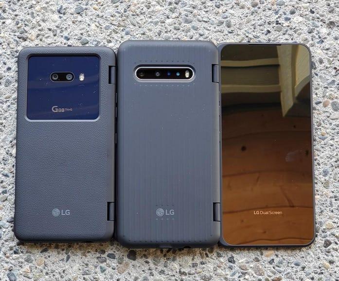 LG G8X vs LG V60 Dual Screen covers