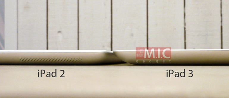 New photos of the iPad 3 bezel - and yes it's thicker. Jason O'Grady