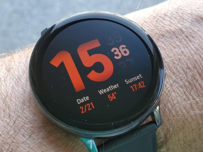 Watch face with complications