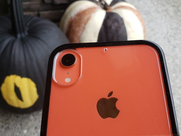 The black DualTek case looks great with my Coral iPhone XR