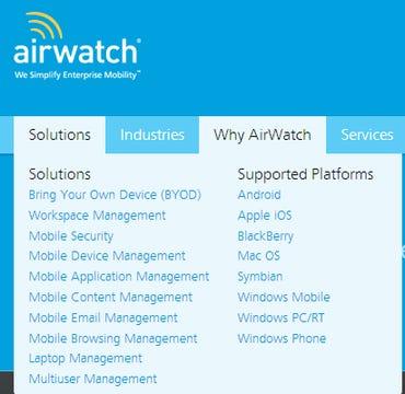 airwatch stack