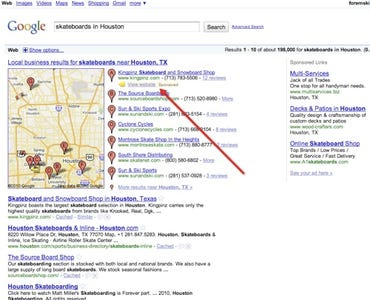 Google has paid results in 'organic' search results