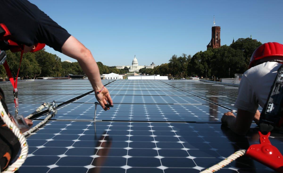 solar panels on national mall