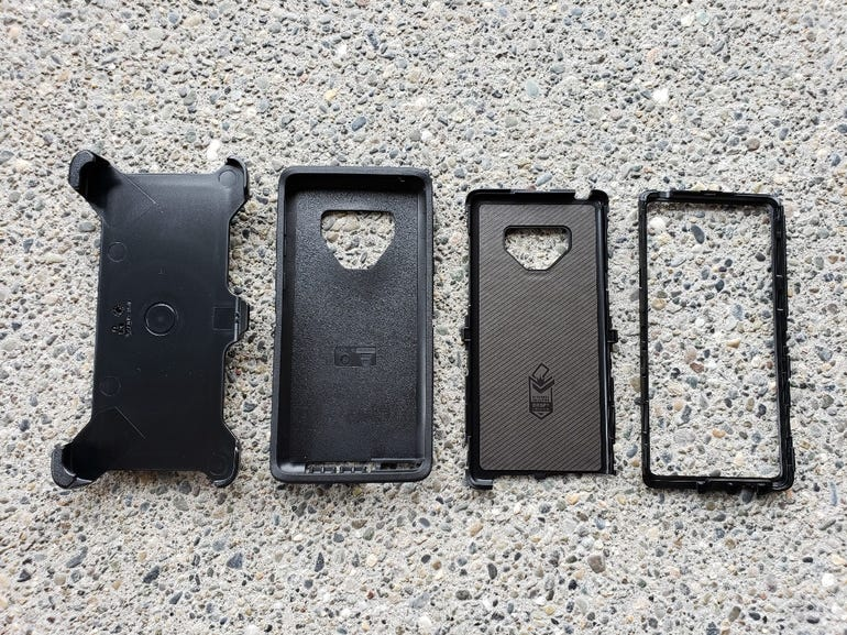 OtterBox Defender pieces with holster