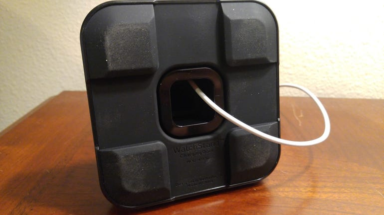 Heavy base with large rubber feet