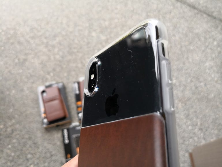Back of the Clear Case with the iPhone X inside