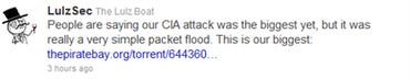 LulzSec says they packet-flooded the CIA