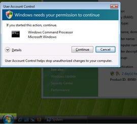 UAC with Secure Desktp option