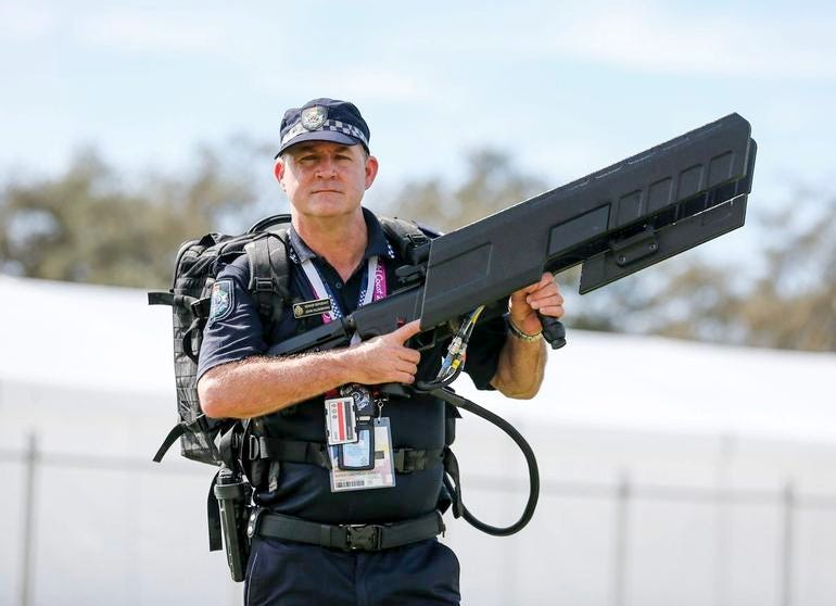 ROUND 1: SIGNAL-JAMMING DRONE GUN USED BY AUSTRALIAN DEFENSE FORCE