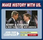 Screen shot of John Kerry's web site