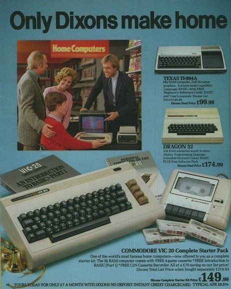 Commodore VIC 20, Texas TI-994 and Dragon 32