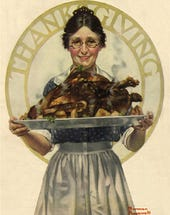 Thanksgiving image by Norman Rockwell, from Norman Rockwell Museum