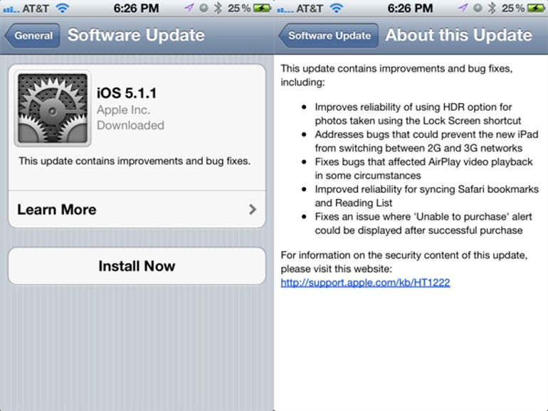 Apple releases iOS 5.1.1 - Jason O'Grady