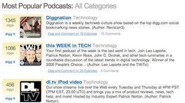 Digg podcasts