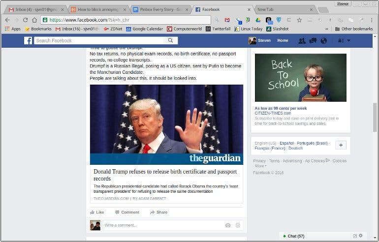 Politics and Facebook