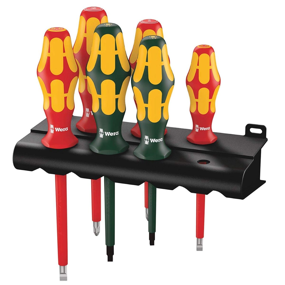 Wera Kraftform Plus 160i/168i/6 Insulated Professional Screwdriver Set, 6-Piece
