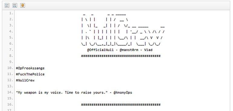 nullcrew hack university cambridge assange