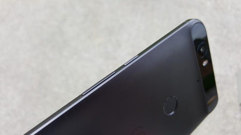Upper left side of the Nexus 6P
