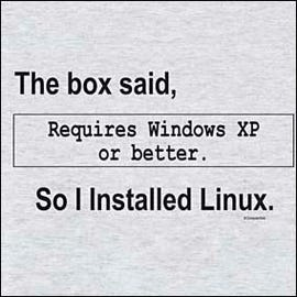 An oldie but a goodie Linux t-shirt
