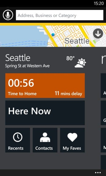 Scout start screen on Windows Phone 8
