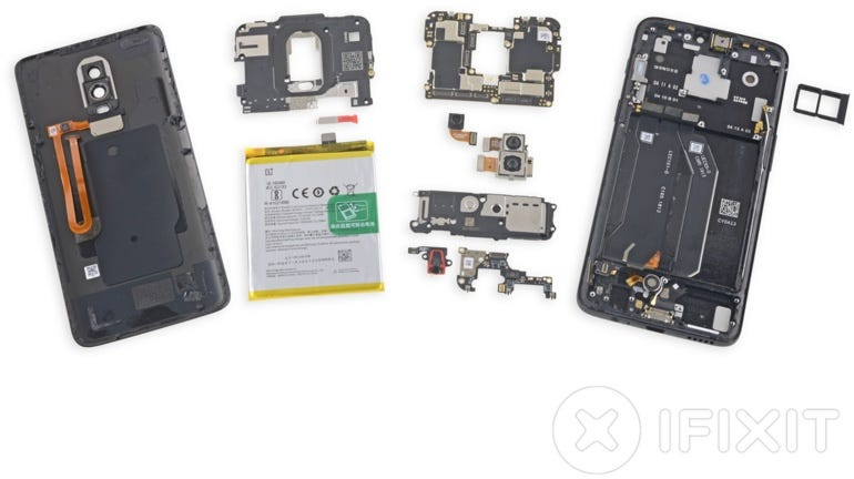 OnePlus 6, torn down