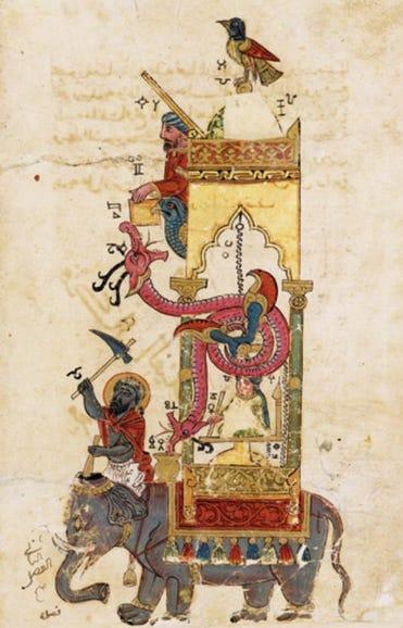 Al-Jazari's water-powered automata