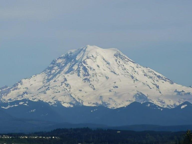 A closer view of Mt Rainier