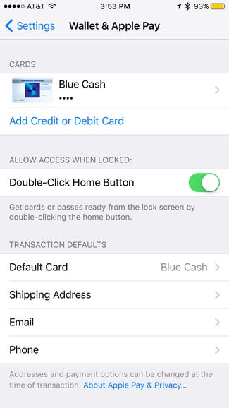 Double tap for Apple Pay