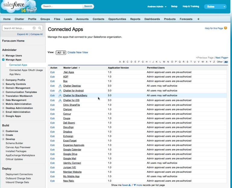 salesforce connected apps
