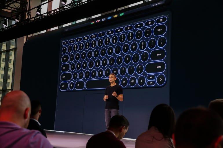 Pixel Slate: Works with a backlit keyboard