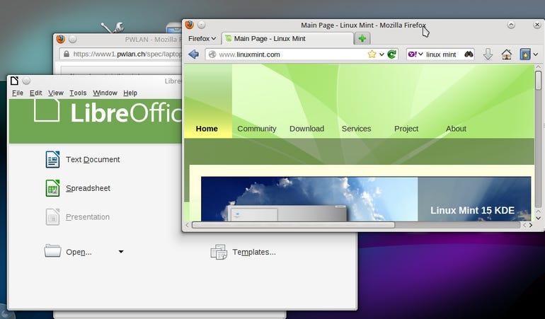 Mint KDE Netbook Windows