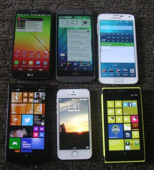Six top camera phones of today