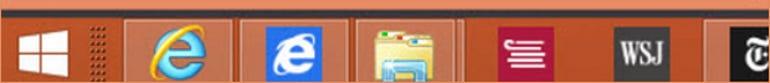 New Windows 8.1 Start button and Taskbar