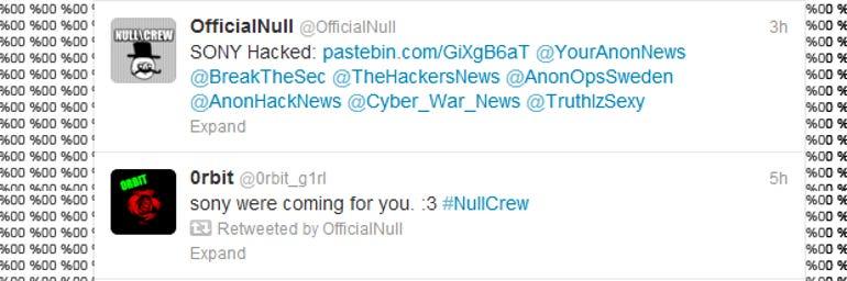 nullcrew hack sony attack mobile
