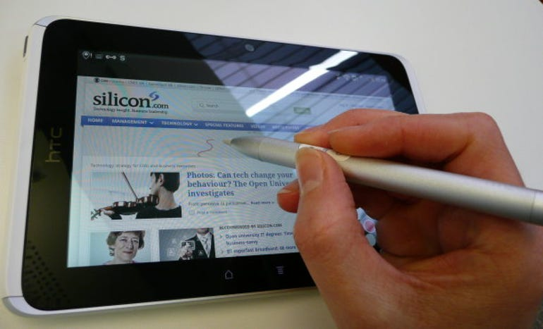 Using the HTC Flyer's stylus