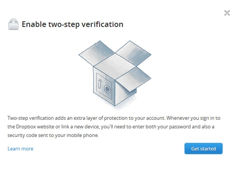 Enable two-step verification process