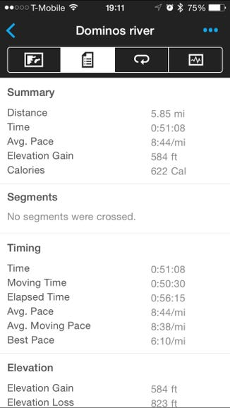 Look at all those run details
