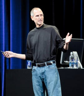 Jobs on stage in September 2009