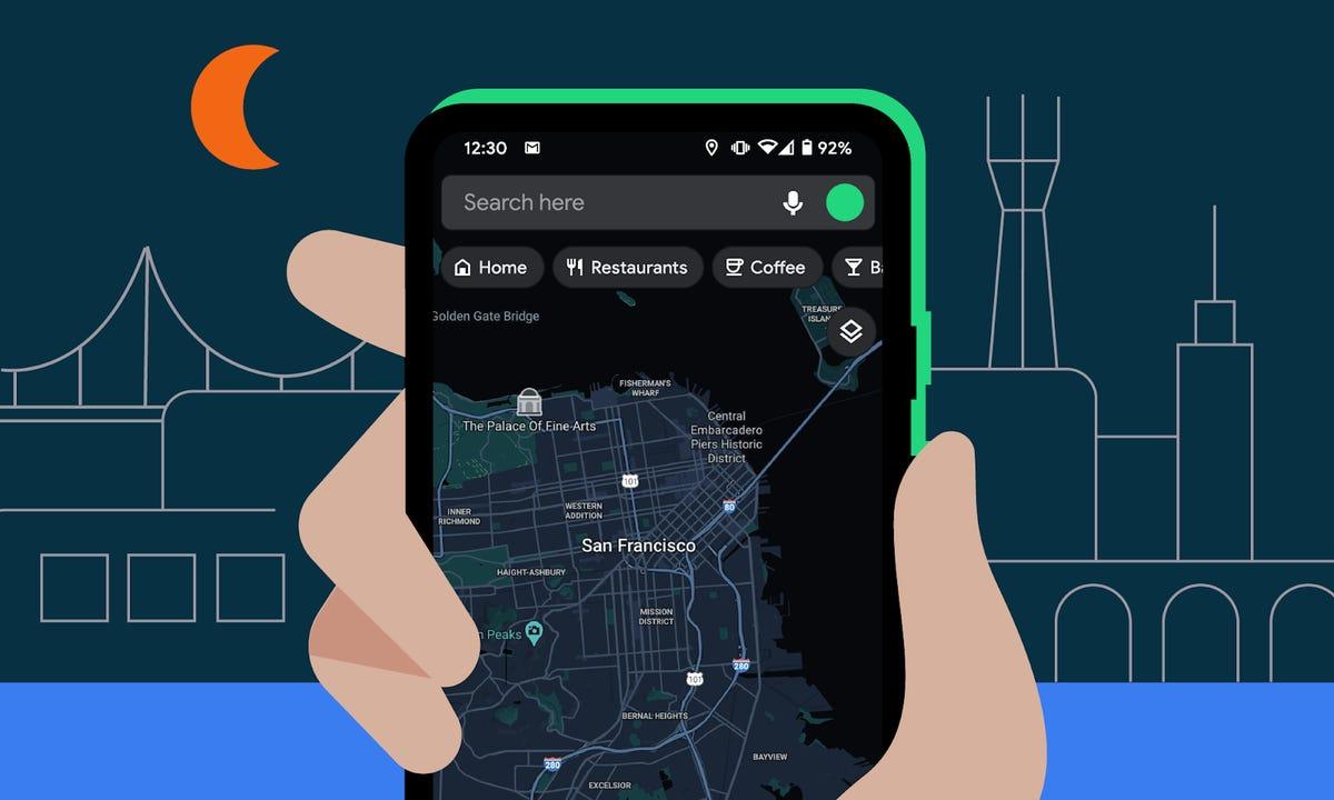 Android: Google Maps en mode sombre, un outil de vérification des mots de passe, et autres mises à jour