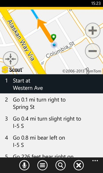 Viewing directions in a list