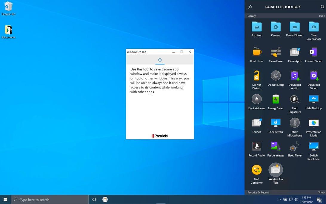parallels-toolbox-window-on-top-windows-10-screenshot