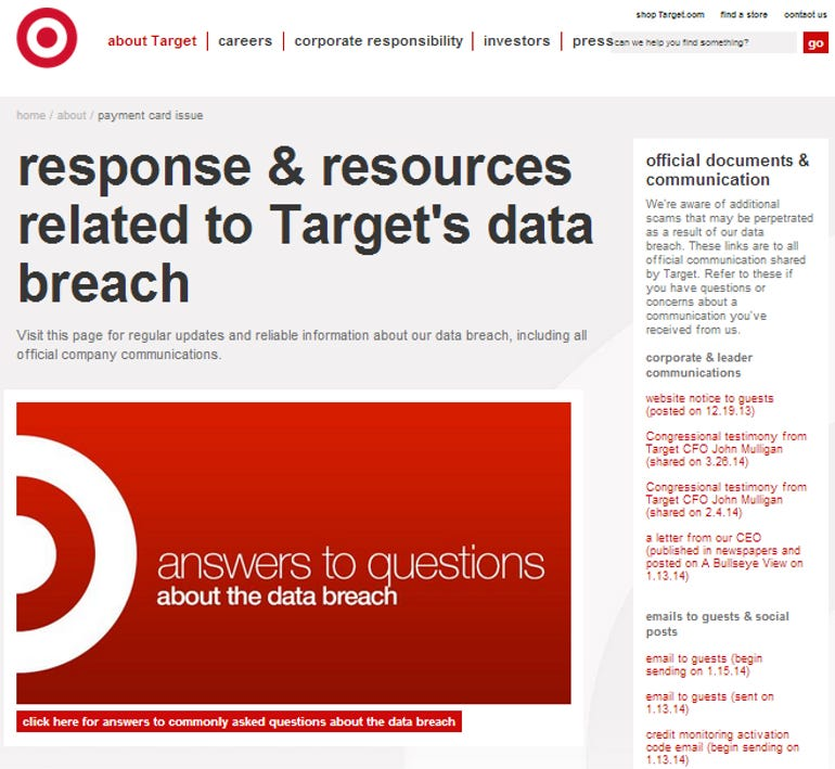 target page