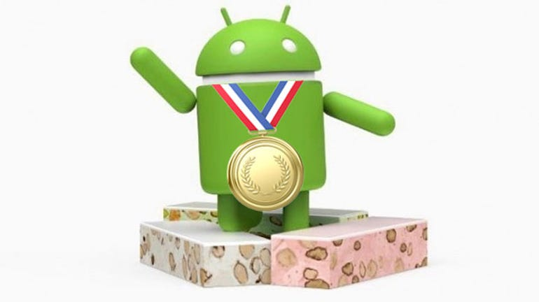 Android Nougat gets the gold medal.