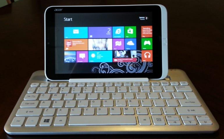 Tablet docked