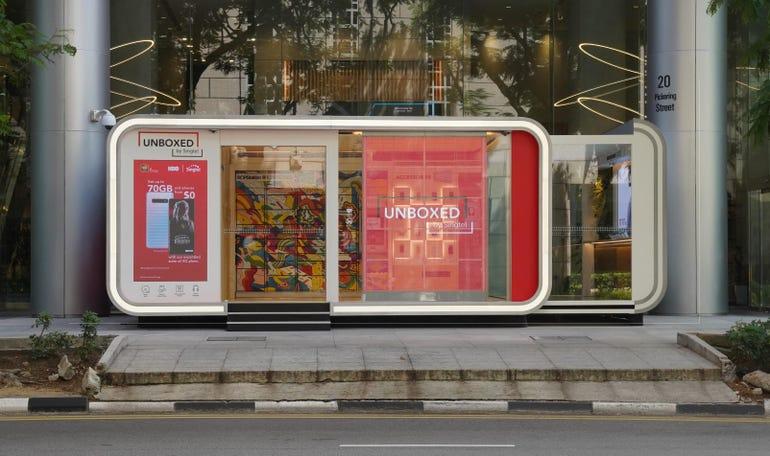 Singtel Unboxed store front